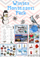 Winter Pack Montessori Inspired