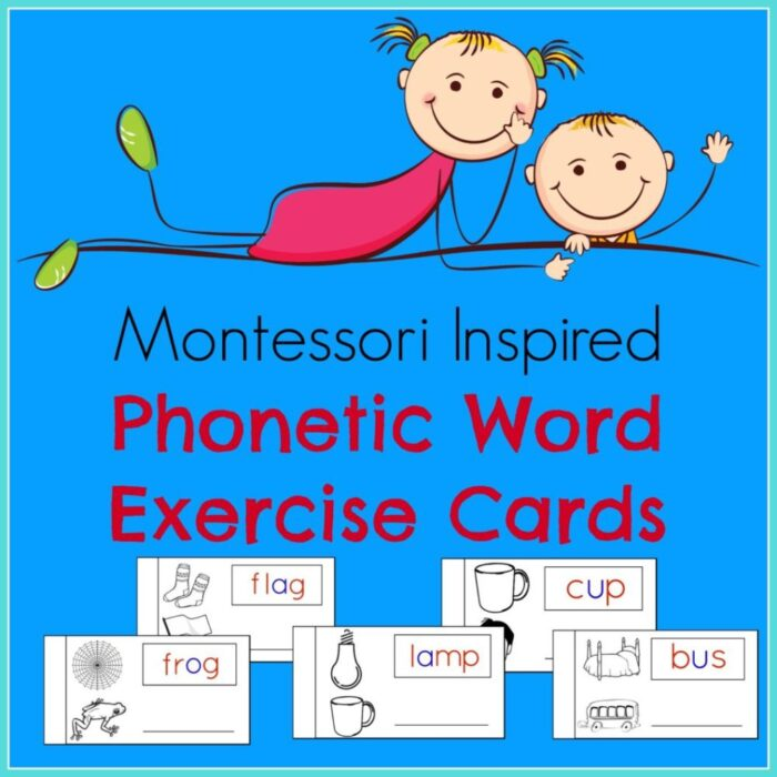 Workout Words: Phonetic Words Exercise Cards