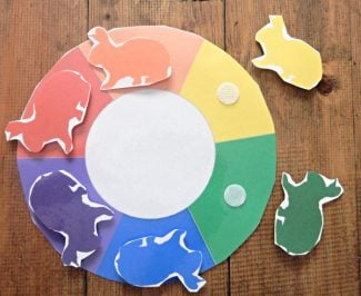 colour wheel farm printables