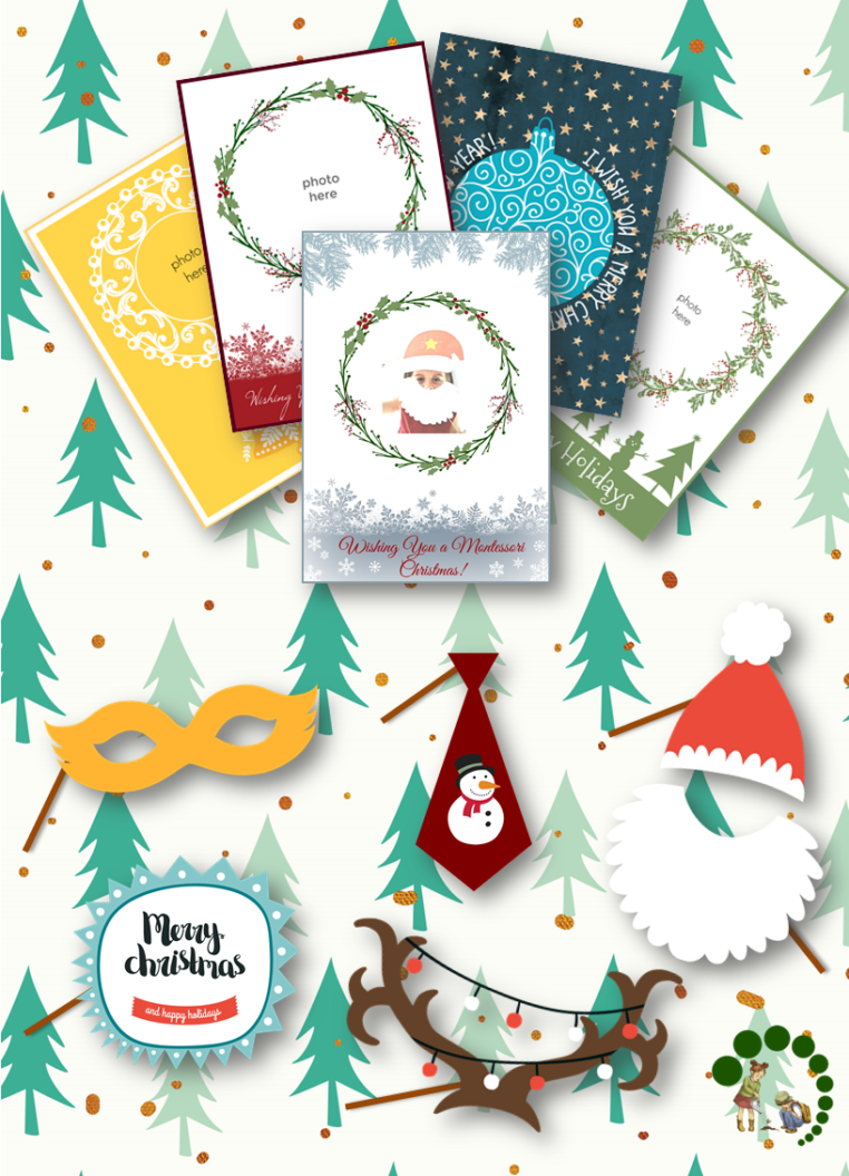DIY Christmas Personalized Photo Cards Photo Booth Props