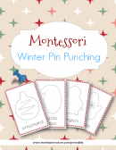 Pin Punching Montessori Nature