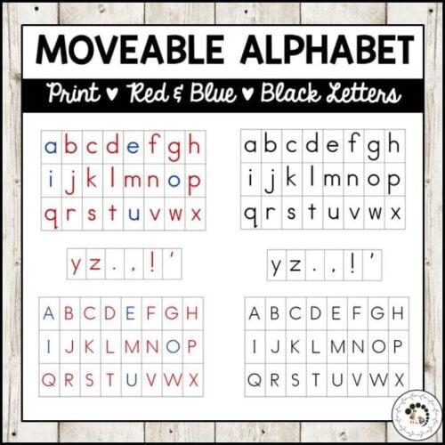 Moveable Alphabet Montessori Nature Printables