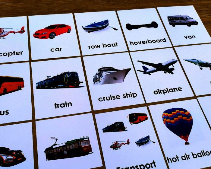 Montessori Nature Multilingual Transport 4