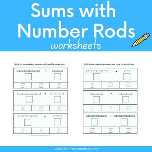Sums with Number Rods