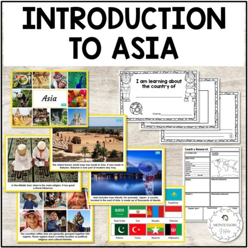 Asia Introduction Cards and Country Research