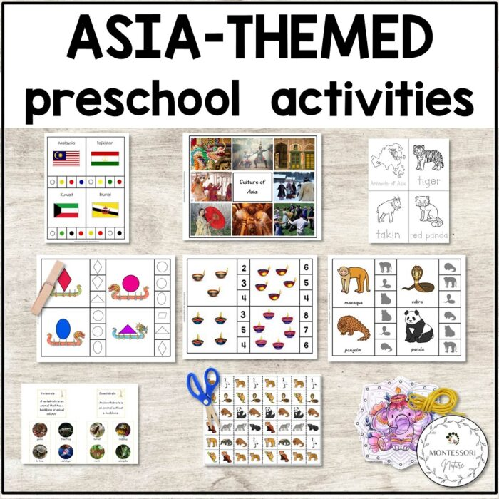Asia hands-on learning activities for preschool