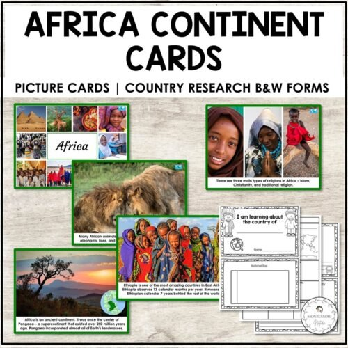 Continents Cards Introduction to Africa