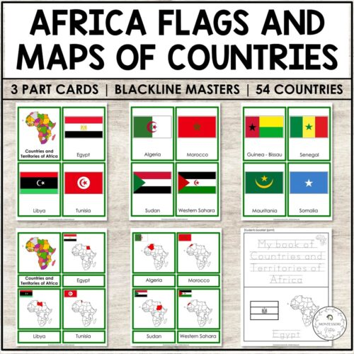 ountries and Territories of Africa Flags Map
