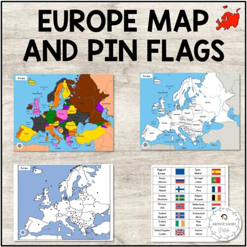 Europe map cards