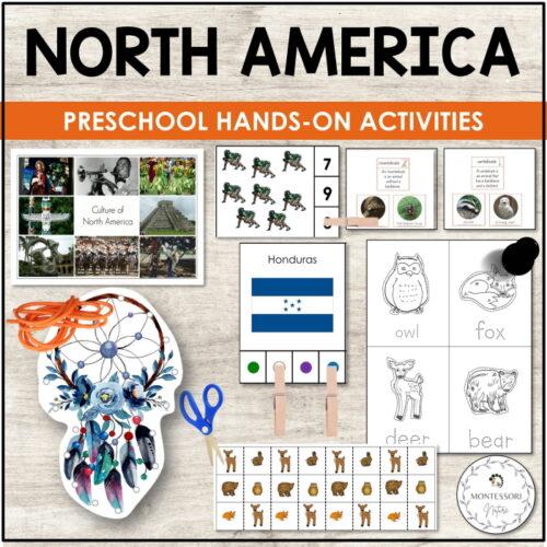 North America Montessori Nature Preschool Printable