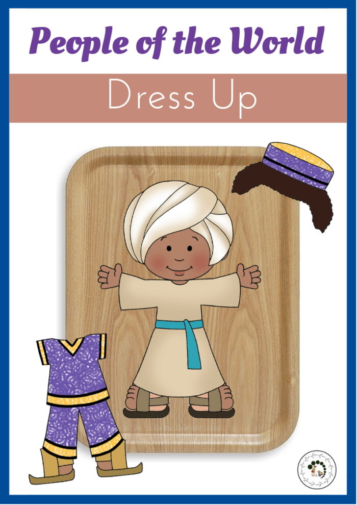 People of the World Dress Up Montessori Nature
